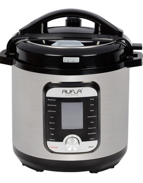 Aufla-Smart-Electric-Cooker-6L-Stainless-Steel-Inner-Pot-with-Triply-Base-2021-1-Front-View